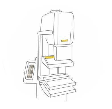 icono de mamografía en el centro Origen, diagnósticos y traumatología.