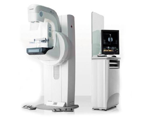 Aparato de mamografías en el centro Origen, diagnóstico y traumatología.