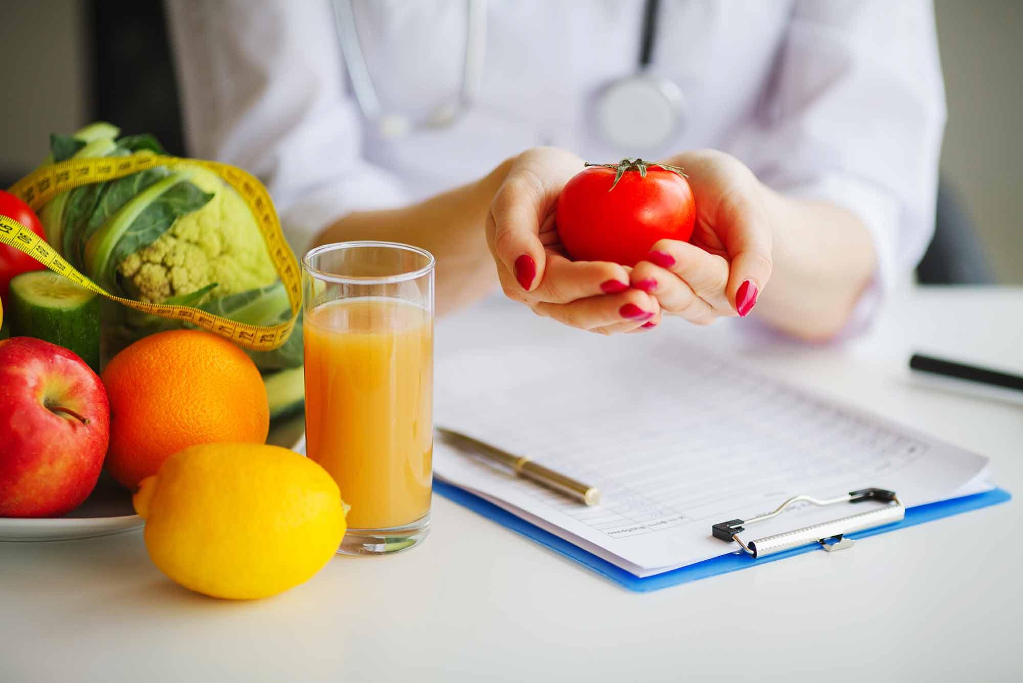 Nutrición en el centro Origen, diagnóstico y traumatología